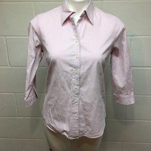 ☀️ 3/$12 Pink Striped Izod Shirt